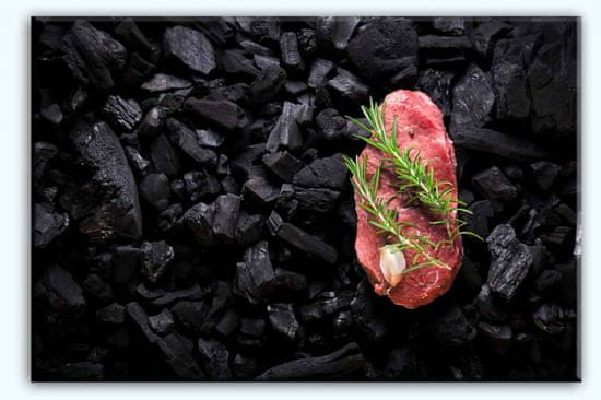 InSmile Obraz steak na uhlících Velikost: 120x80 cm