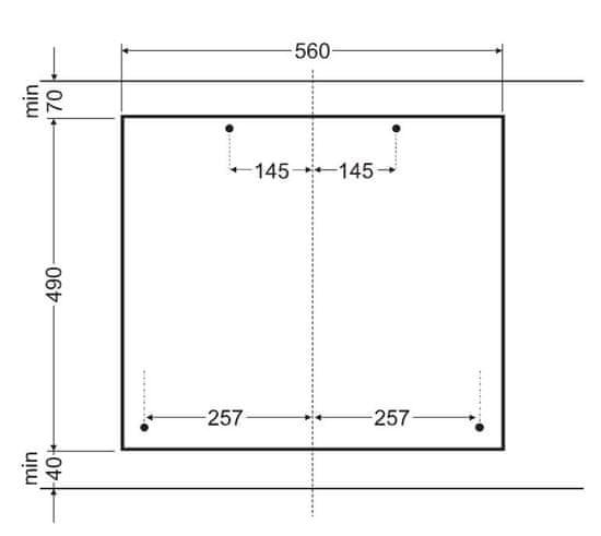 Amica plynová varná deska DP 6401 LZB