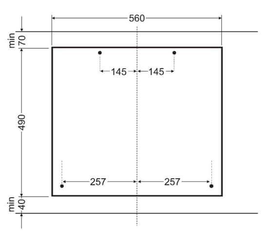 Amica plynová varná deska DP 6402 ZX