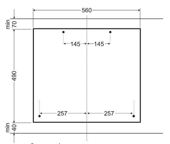 Amica plynová varná deska DP 6413 BG