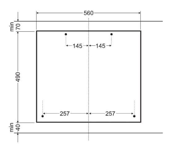 Amica plynová varná deska DRP 6411 ZBW