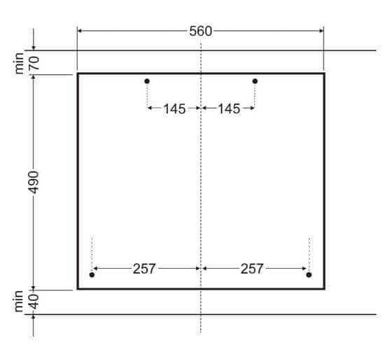 Amica plynová varná deska DP 6403 AZX