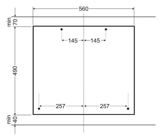 Amica plynová varná deska DRP 6411 ZBB