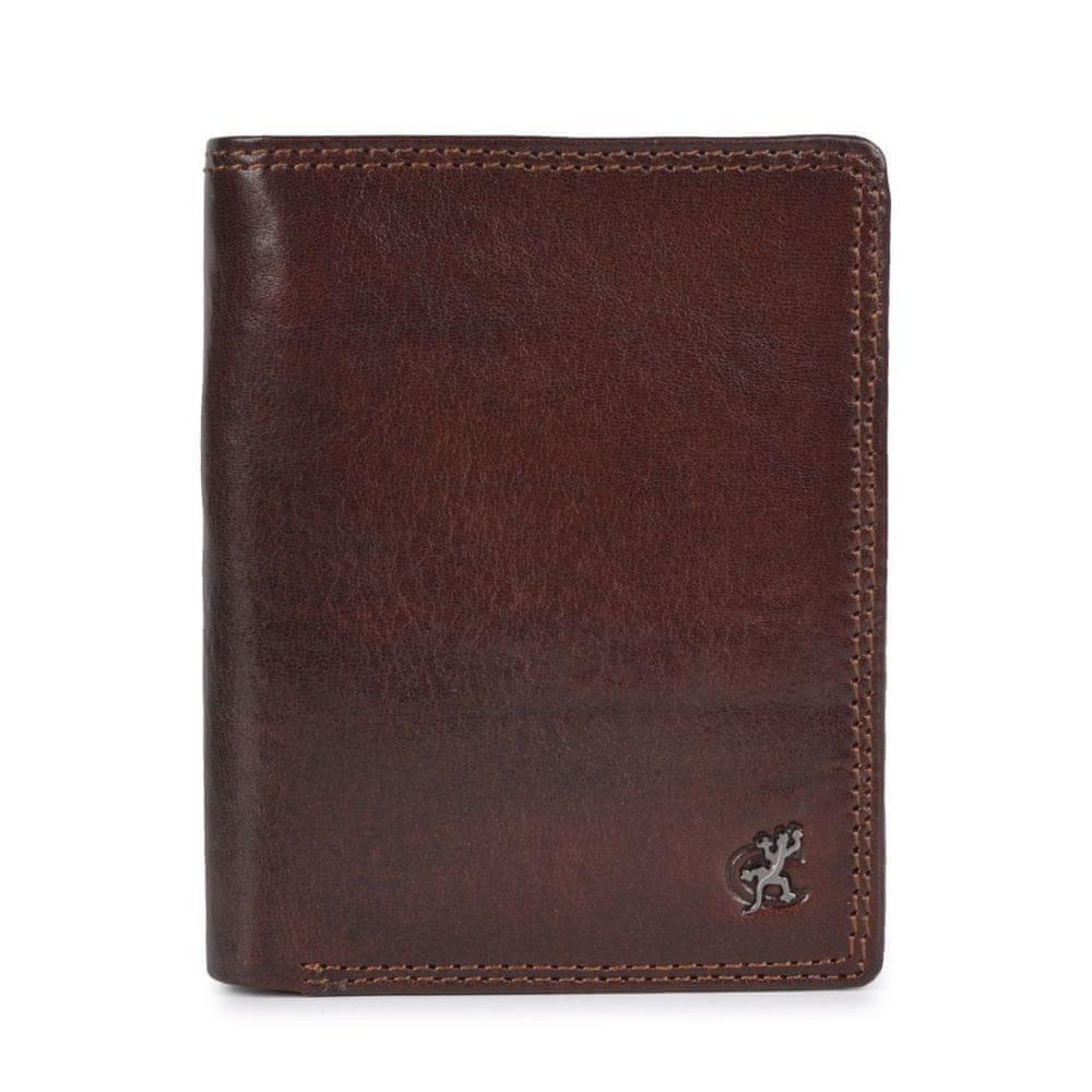 COSSET hnědá pánská peněženka 4501 Komodo H