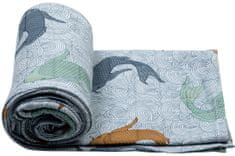 Lodger Swaddler Empire Fish 120 x 120 cm Dusty Turquoise
