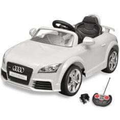shumee Audi TT RS električni avto za otroke z dalinjcem bele barve