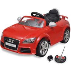 shumee Audi TT RS električni avto za otroke z dalinjcem rdeče barve