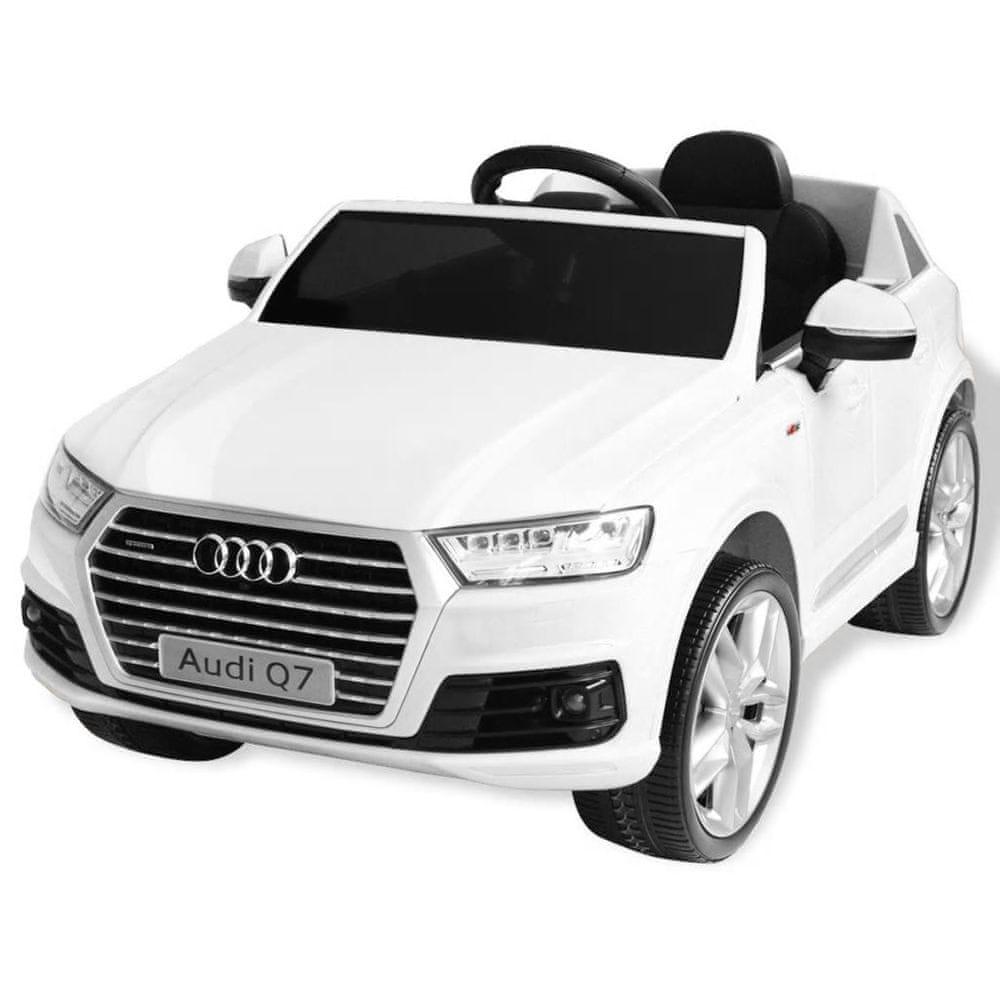 Elektrické dětské auto Audi Q7 bílé 6 V