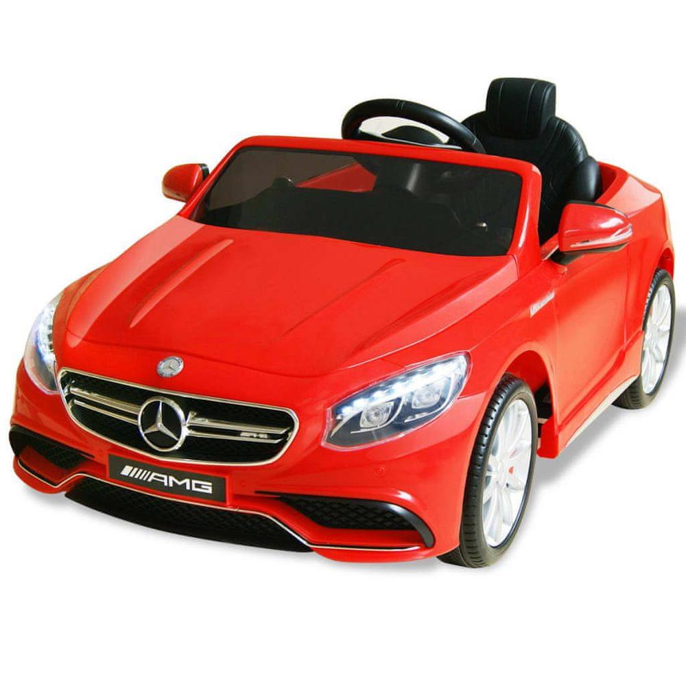 Elektrické dětské auto Mercedes Benz AMG S63 červené 12 V
