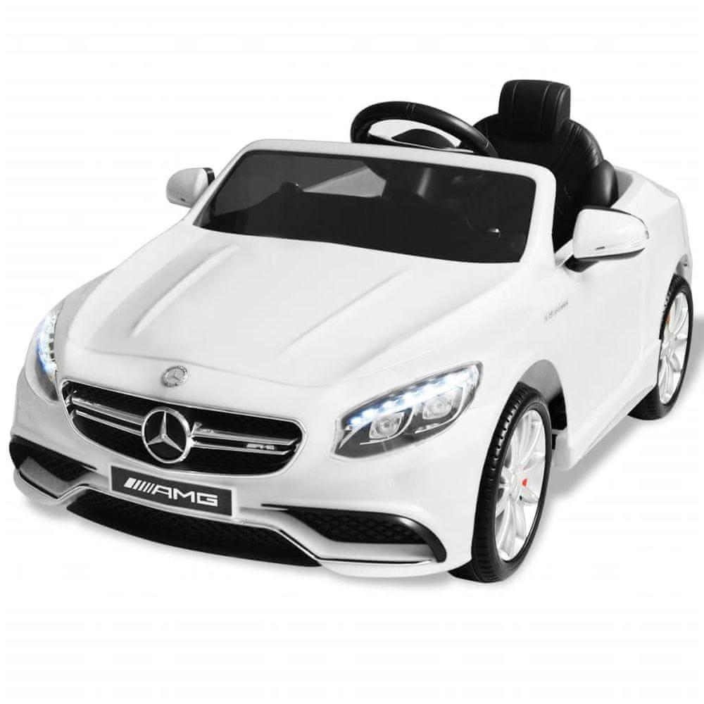 Elektrické dětské auto Mercedes Benz AMG S63 bílé 12 V