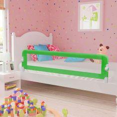 Greatstore Dětská zábrana k postýlce zelená 180 x 42 cm polyester