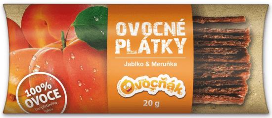 Ovocňák OVOCNÉ PLÁTKY JABLKO-MERUŇKA 20 x 20 g