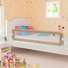 shumee Zábrana na detskú posteľ, sivohnedá 180x42 cm, polyester