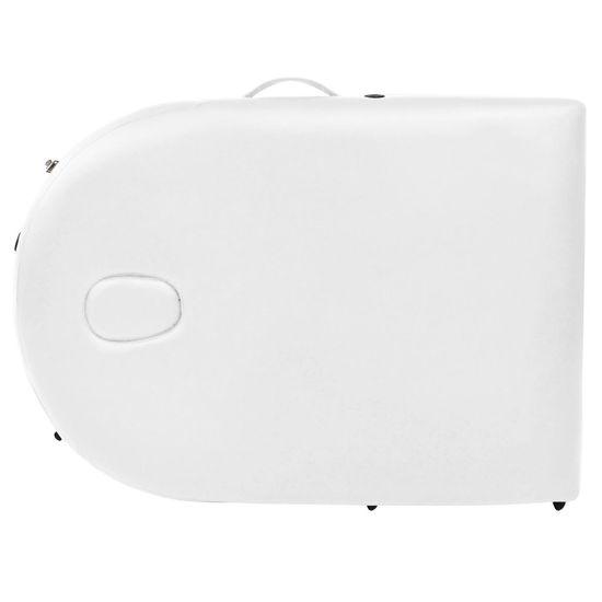 shumee fehér összecsukható masszázsasztal 2 hengerpárnával 4 cm