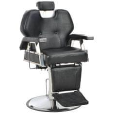 shumee Fotel barberski, czarny, 72x68x98 cm, sztuczna skóra
