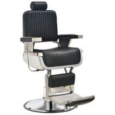 shumee Fotel barberski, czarny, 68x69x116 cm, sztuczna skóra