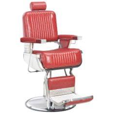 shumee Fotel barberski, czerwony, 68x69x116 cm, sztuczna skóra
