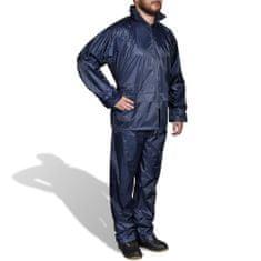shumee Moška Dvodelna Dežna Obleka s Kapuco Mornarsko Modre Barve M