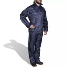 shumee Moška Dvodelna Dežna Obleka s Kapuco Mornarsko Modre Barve L