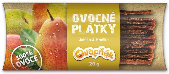 Ovocňák plátky Jablko-Hruška 20x20g
