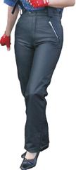 Bikersmode kalhoty KDŠ dámské kožené barva: černá, Velikost: 44