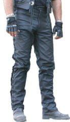 Bikersmode kalhoty KP-1 se šněrováním kožené barva: černá, Velikost: 50