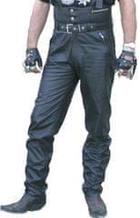 Bikersmode kalhoty KPŠ kožené na chopper barva: černá, Velikost: 50