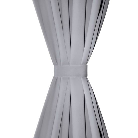 shumee Szare zasłony zaciemniające, 135 x 245 cm, 2 sztuki