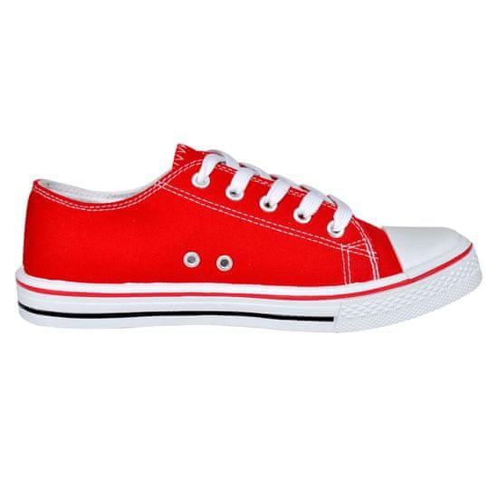 shumee Ženski nizki platneni šprtni čevlji rdeči velikost 37