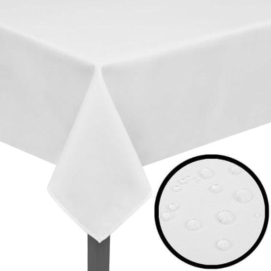 shumee 5 db asztalterítő 170 x 130 cm fehér