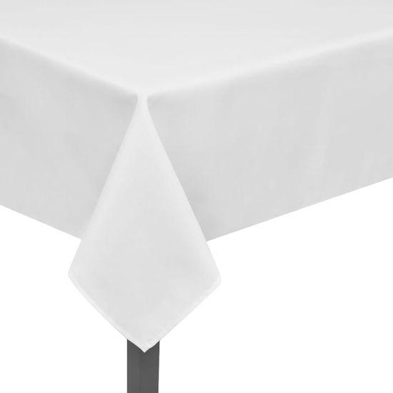 shumee 5 db asztalterítő 250 x 130 cm fehér