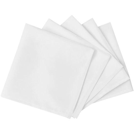 shumee 50 belih prtičkov iz blaga 50 x 50 cm