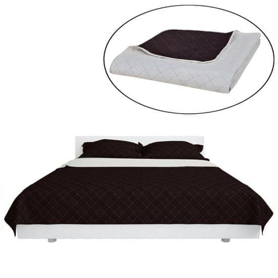 shumee Kétoldalú vattázott ágytakaró 230 x 260 cm bézs/barna