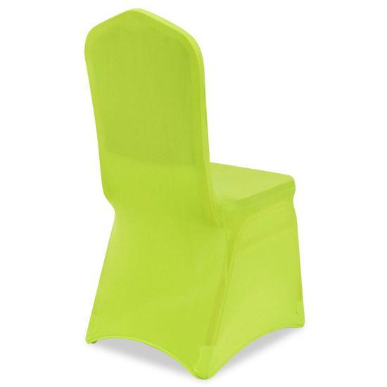 shumee Raztegljiva Prevleka za Stol 4 kosi Zelene Barve