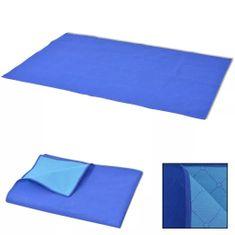 shumee Piknik odeja modra in svetlo modra 100x150 cm