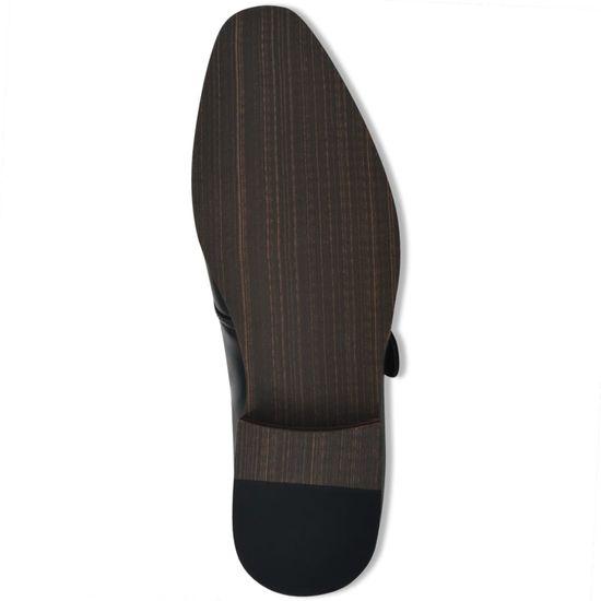 shumee Moški čevlji s pasom črne barve velikost 41 PU usnje
