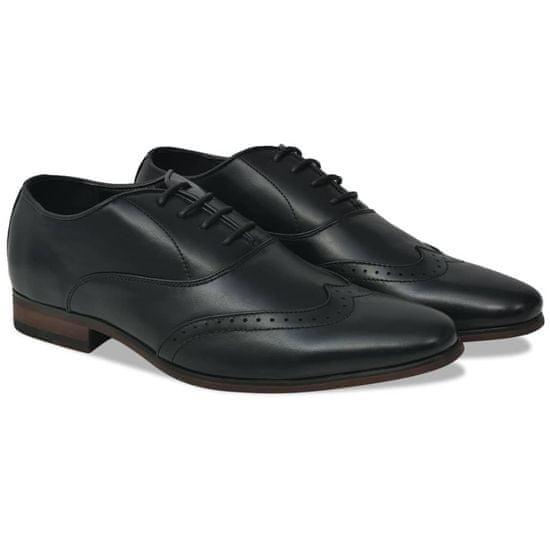 shumee Moški čevlji z vezalkami črni velikost 40 PU usnje