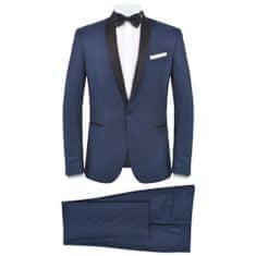 shumee Pánsky dvojdielny oblek/smoking, veľkosť 46, námornícka modrá