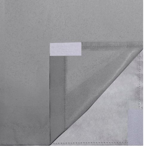 shumee 2 db szürke dupla rétegű sötétítőfüggöny 140 x 245 cm