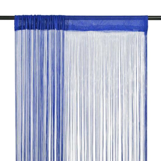 shumee Zasłony sznurkowe, 2 sztuki, 100 x 250 cm, niebieskie