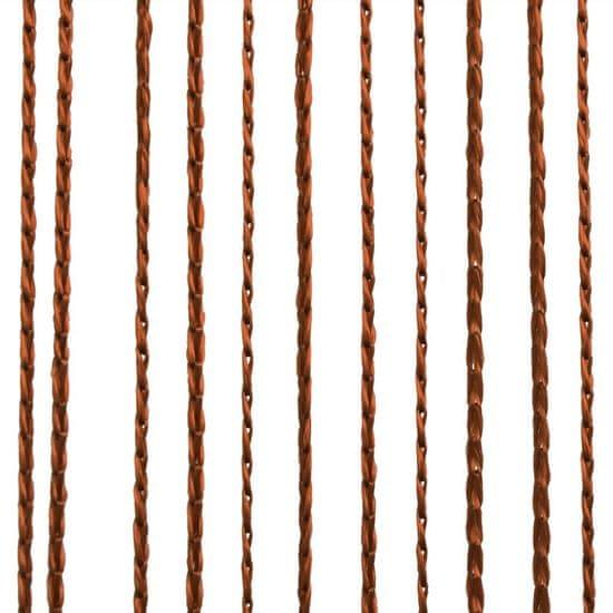 shumee Zasłony sznurkowe, 2 sztuki, 140 x 250 cm, brązowe