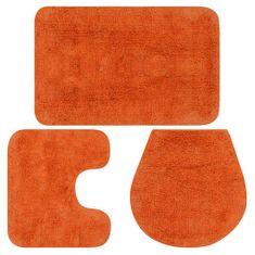 shumee Kopalniške preproge 3 kosi blago oranžne barve