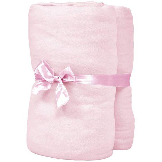 slomart Rjuhe za otroško posteljo 4 kosi bombažni džersi 60x120 cm roza