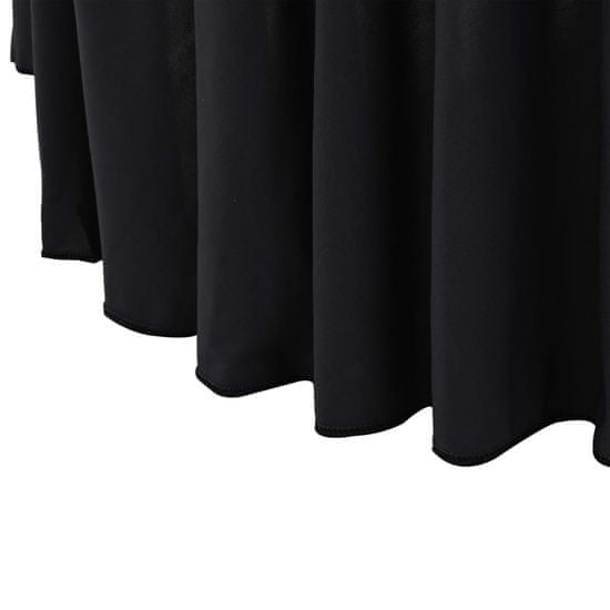 shumee Elastyczne obrusy z falbaną, 2 szt., 180 x 74 cm, antracytowe