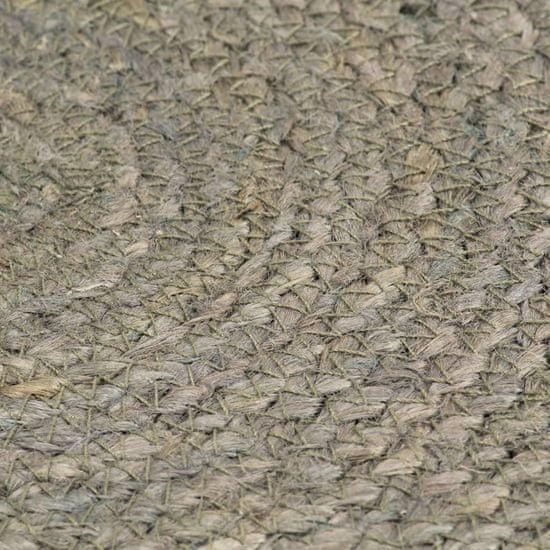 shumee Maty na stół, 6 szt., gładkie, szare, 38 cm, okrągłe, juta
