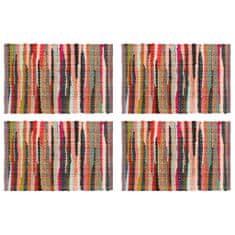 shumee Maty na stół, 4 szt., Chindi, gładkie, wielokolorowe, 30x45 cm