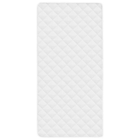 shumee Prešita zaščita za vzmetnico bela 70x140 cm zimska