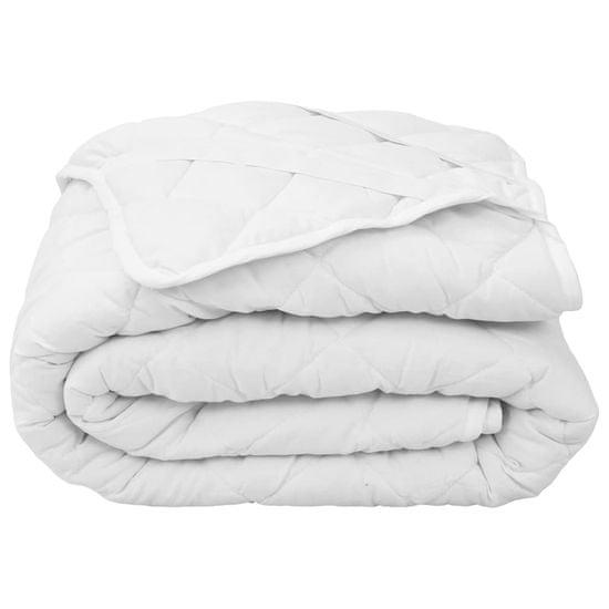 shumee fehér steppelt nehéz matracvédő 180 x 200 cm