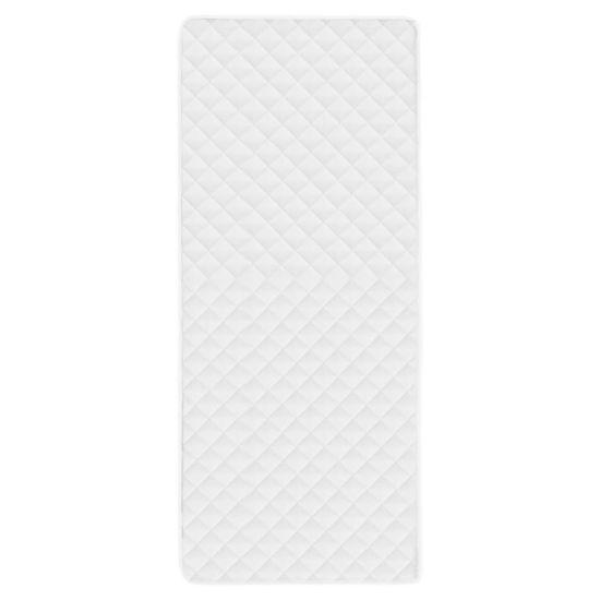 shumee Prešita zaščita za vzmetnico bela 90x200 cm poletna