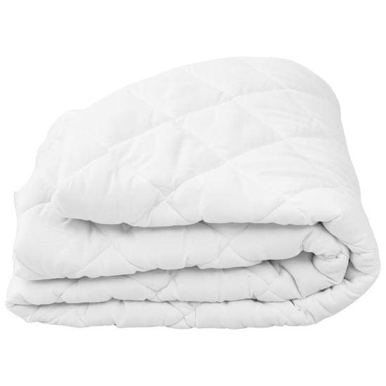 shumee Prešita zaščita za vzmetnico bela 90x200 cm zimska